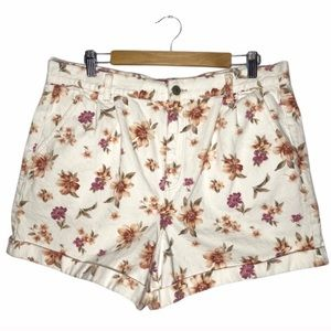 American Eagle Floral Mom Shorts Plus Size 16